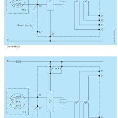 Thermistor Relay Wiring Diagram Sony Home Theatre Motor Protection Relays Cm Mss 22 And 23 Pdf V A1 Or A3 11 21 T1 M 3 T T2 24 Reset