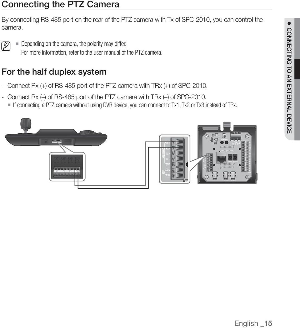 medium resolution of for the half duplex system connect rx of rs 485 port