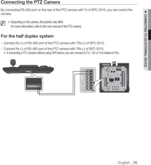 small resolution of for the half duplex system connect rx of rs 485 port