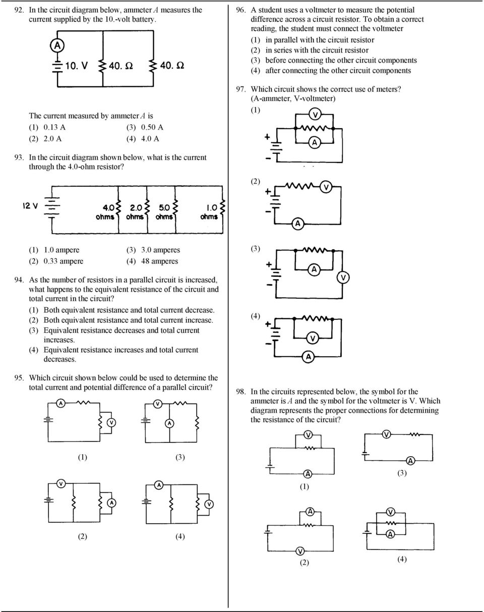 hight resolution of to obtain a correct reading the student must connect the voltmeter in parallel with the