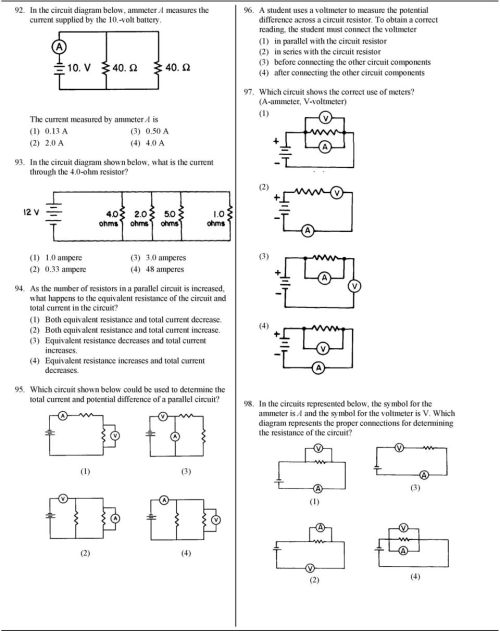 small resolution of to obtain a correct reading the student must connect the voltmeter in parallel with the