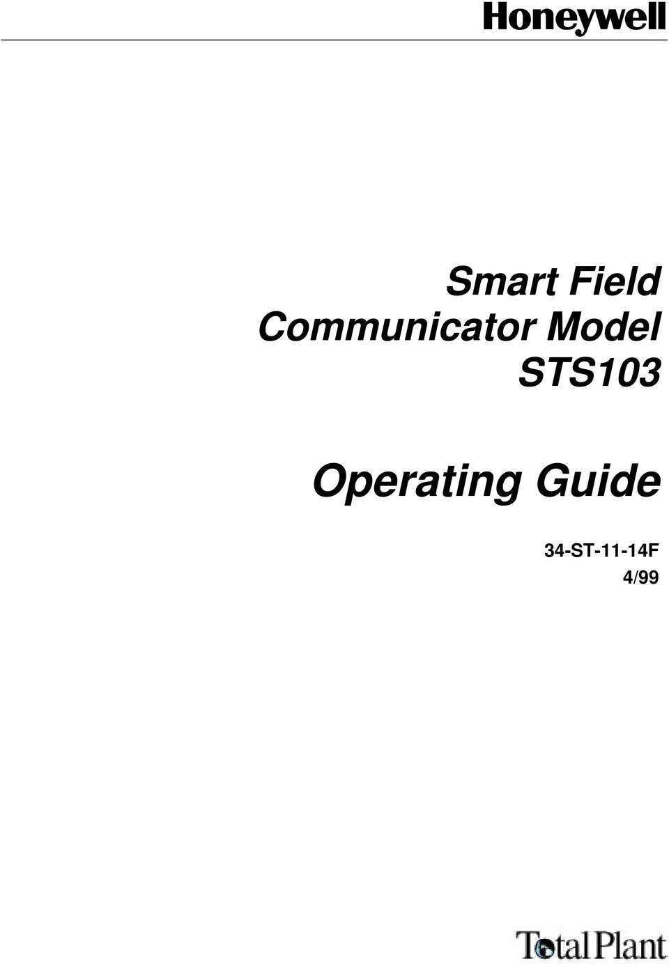 Smart Field Communicator Model STS103. Operating Guide 34