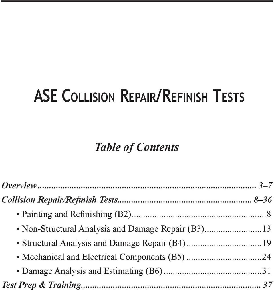 hight resolution of  8 non structural analysis and damage repair b3