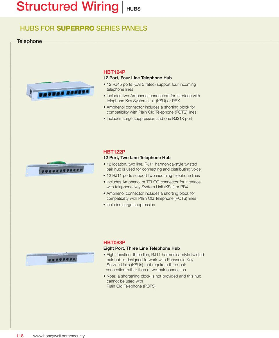 medium resolution of and one rj31x port hbt122p 12 port two line telephone hub 12 location two