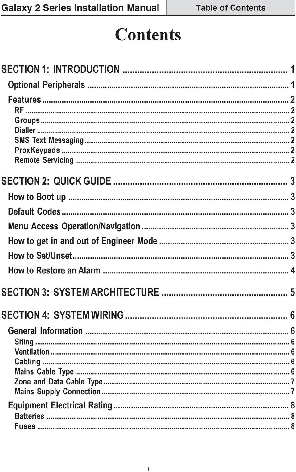 hight resolution of 3 how to get in and out of engineer mode 3 4 table of contents galaxy 2 series installation manual