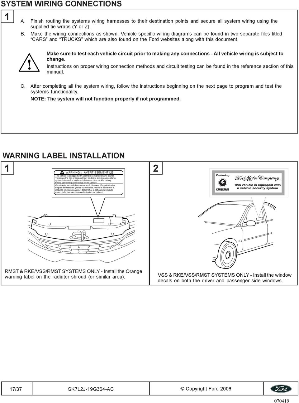 medium resolution of make sure to test each vehicle circuit prior to making any connections all vehicle wiring