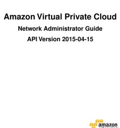 2 amazon virtual private cloud network administrator copyright 2015 amazon web services inc and or its affiliates all rights reserved  [ 960 x 1287 Pixel ]