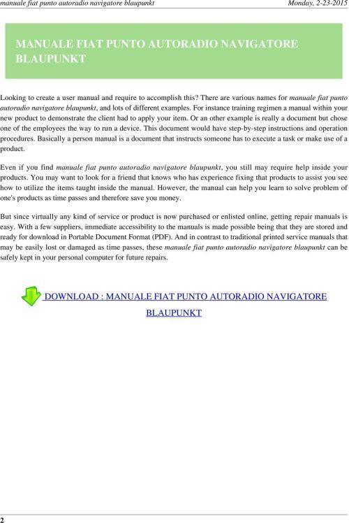 small resolution of fiat punto mk2 wiring diagram manual