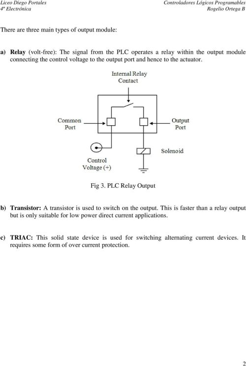 small resolution of plc relay output b transistor a transistor is used to switch on the output