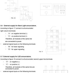 according to figure 17 connect to all annunciator right column terminals a on negative [ 960 x 1527 Pixel ]