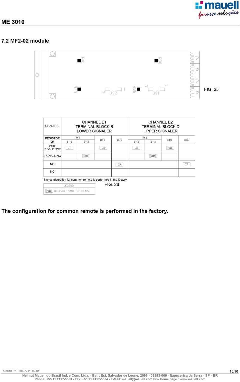 medium resolution of signaler channel e2 terminal block d upper signaler no nc the configuration for