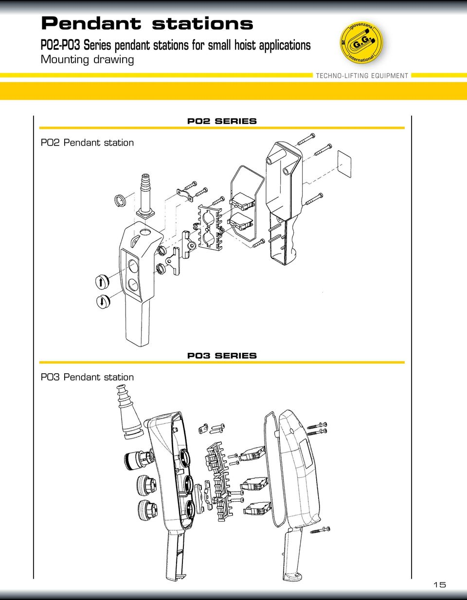 medium resolution of mounting drawing techno lifting equipment p02