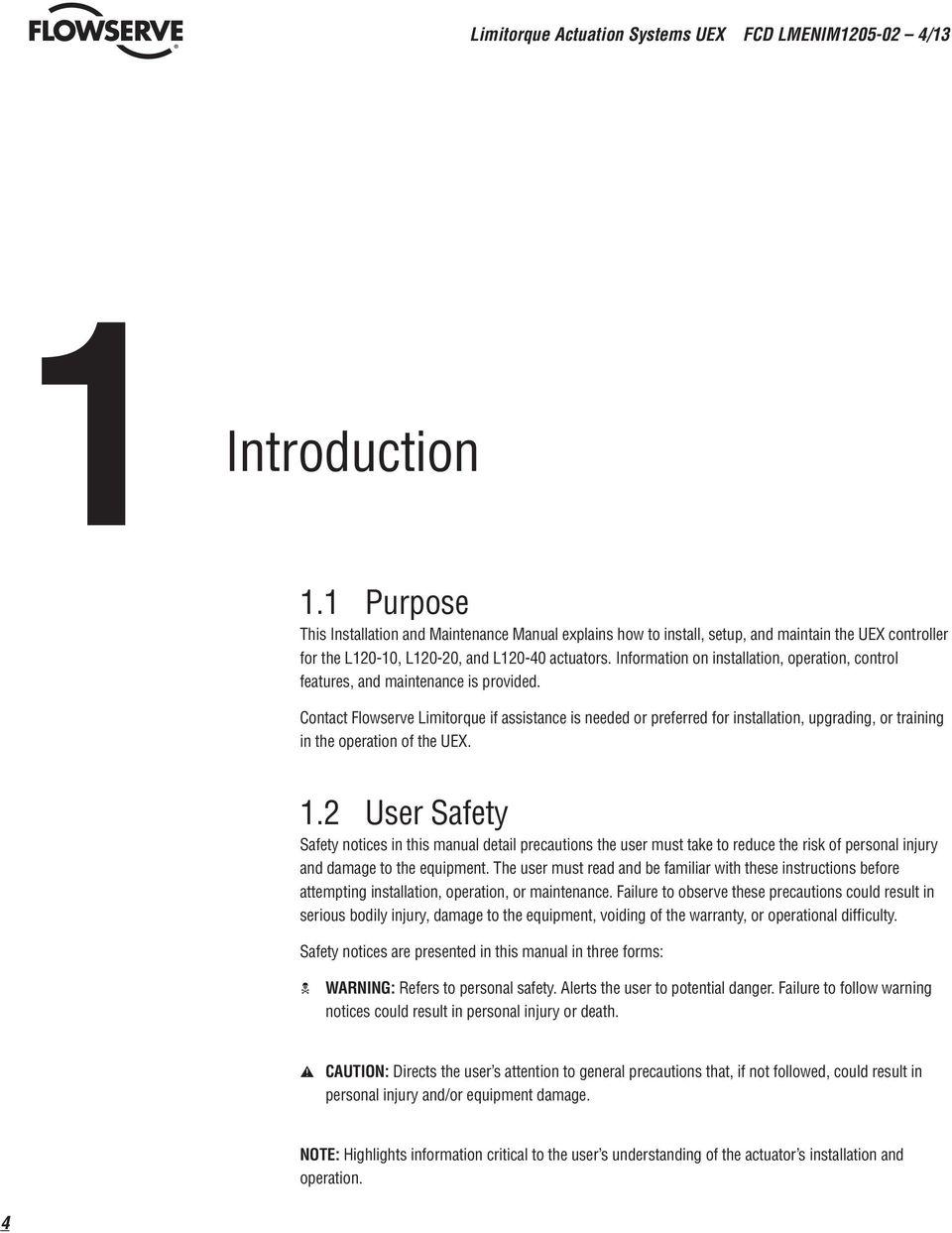 Flowserve Wiring Diagram Online Schematics Limitorque Mx 20 Actuators General Safety Installing Genesis Sullair