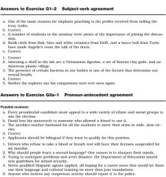 Exercise G1 1 Subject Verb Agreement Answers - Exercise Poster [ 1448 x 960 Pixel ]