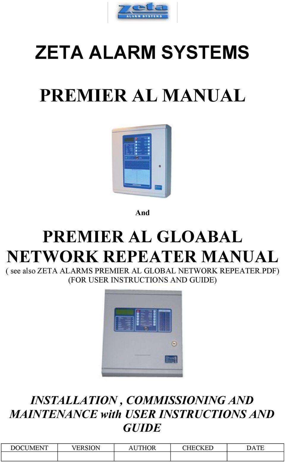 medium resolution of zeta addressable fire alarm system wiring diagram zeta alarm systems premier al manual pdfrh