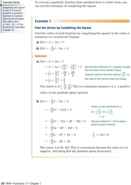 small resolution of 1.3. Maximum or Minimum of a Quadratic Function. Investigate A - PDF Free  Download