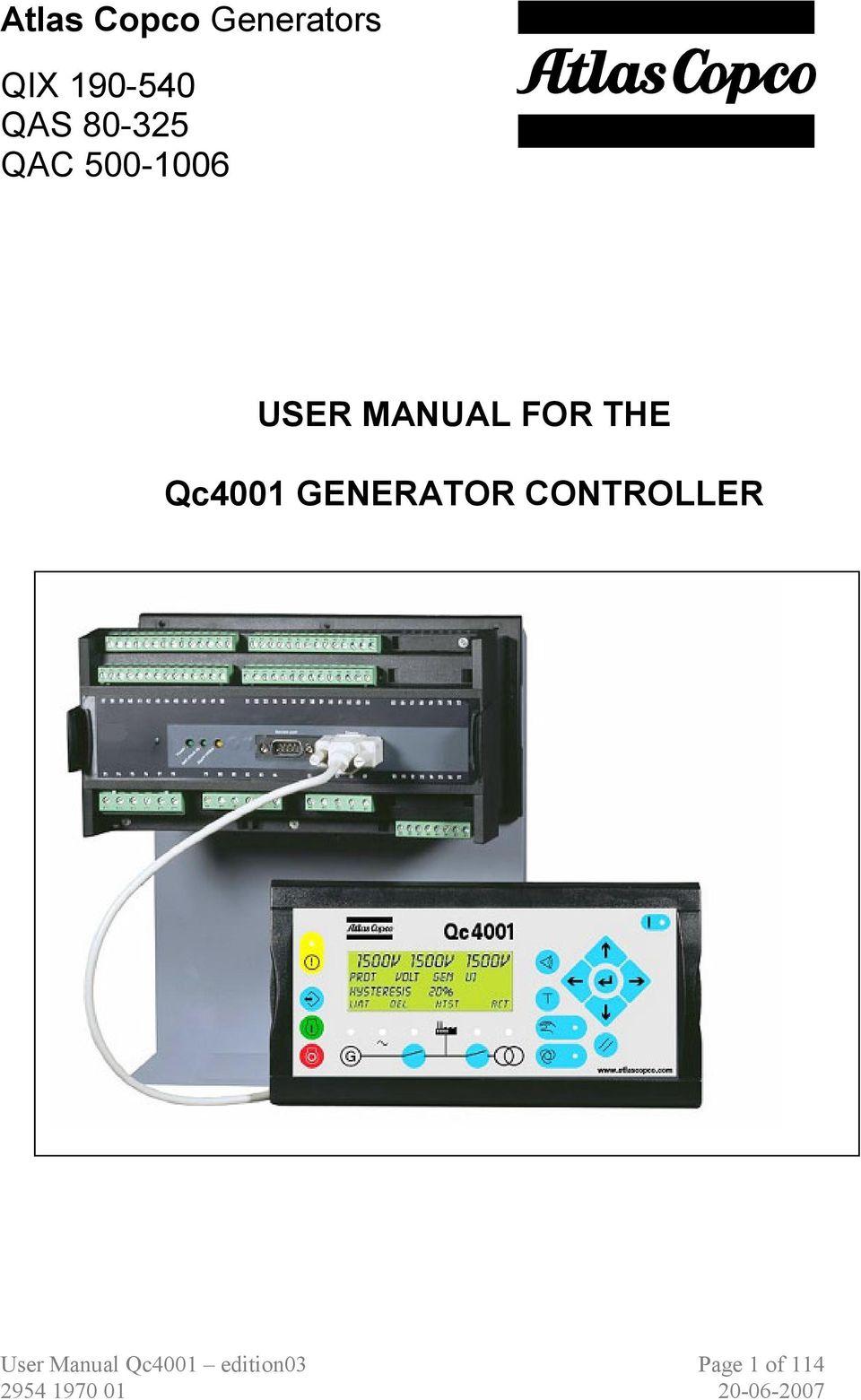 medium resolution of atlas copco generators qix qas qac user manual for the qc4001 atlas copco generator wiring diagram