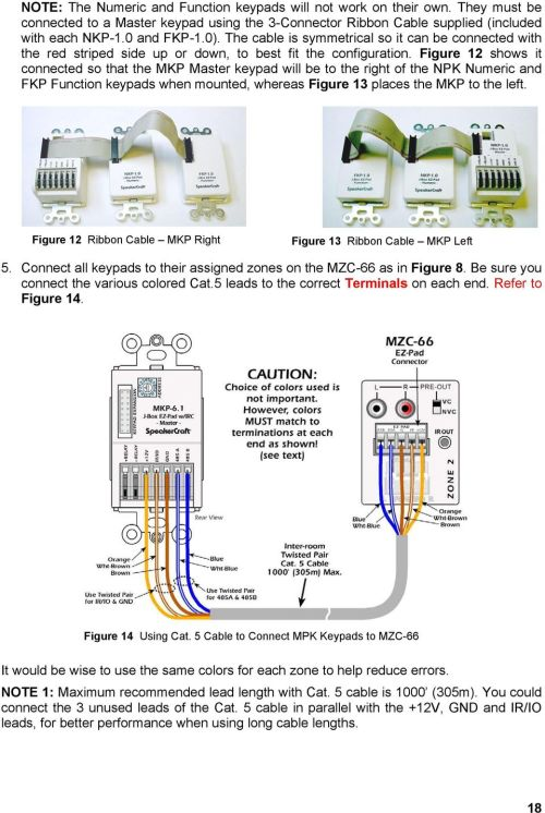 small resolution of figure 12 shows it connected so that the mkp master keypad will be to the right