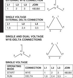 dual voltage wye delta connections 6 single voltage operating mode connection l l l3 join start [ 960 x 1676 Pixel ]