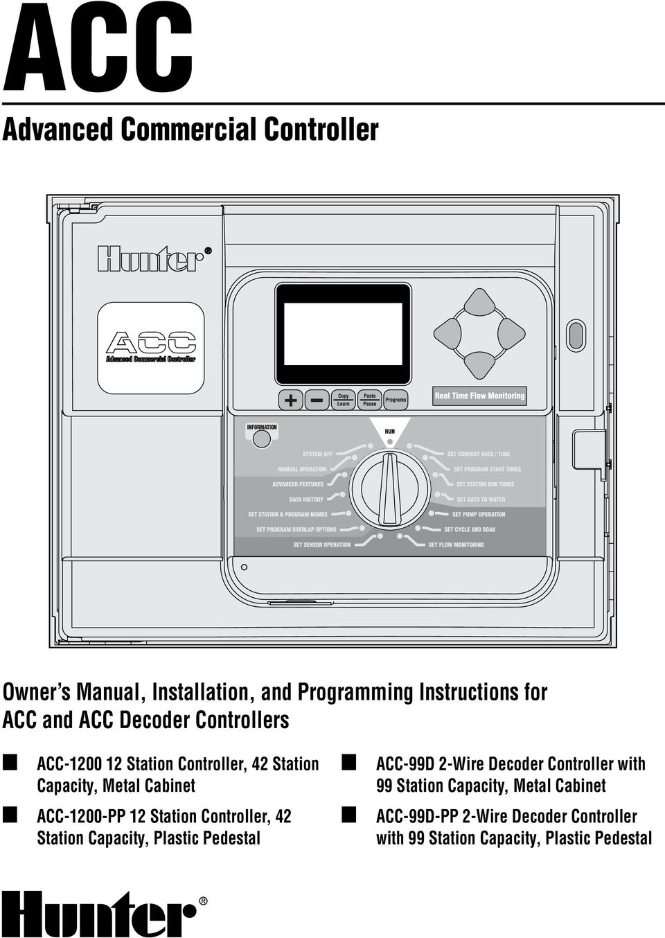 medium resolution of station controller 42 station capacity plastic pedestal acc 99d 2 wire decoder