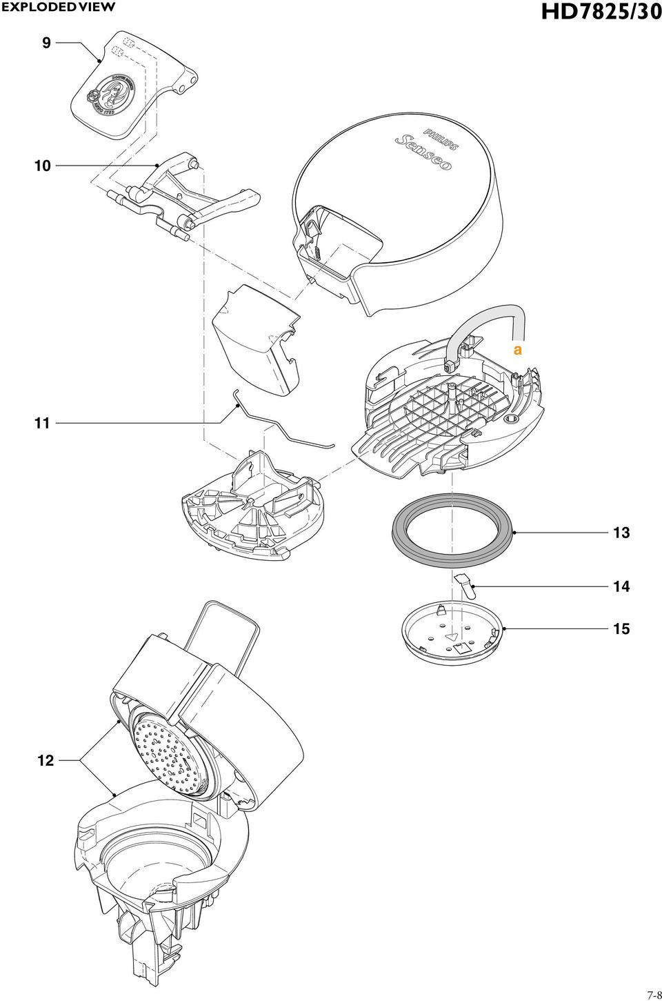 Service Manual. Coffee maker Senseo Viva Café HD7825/30 10