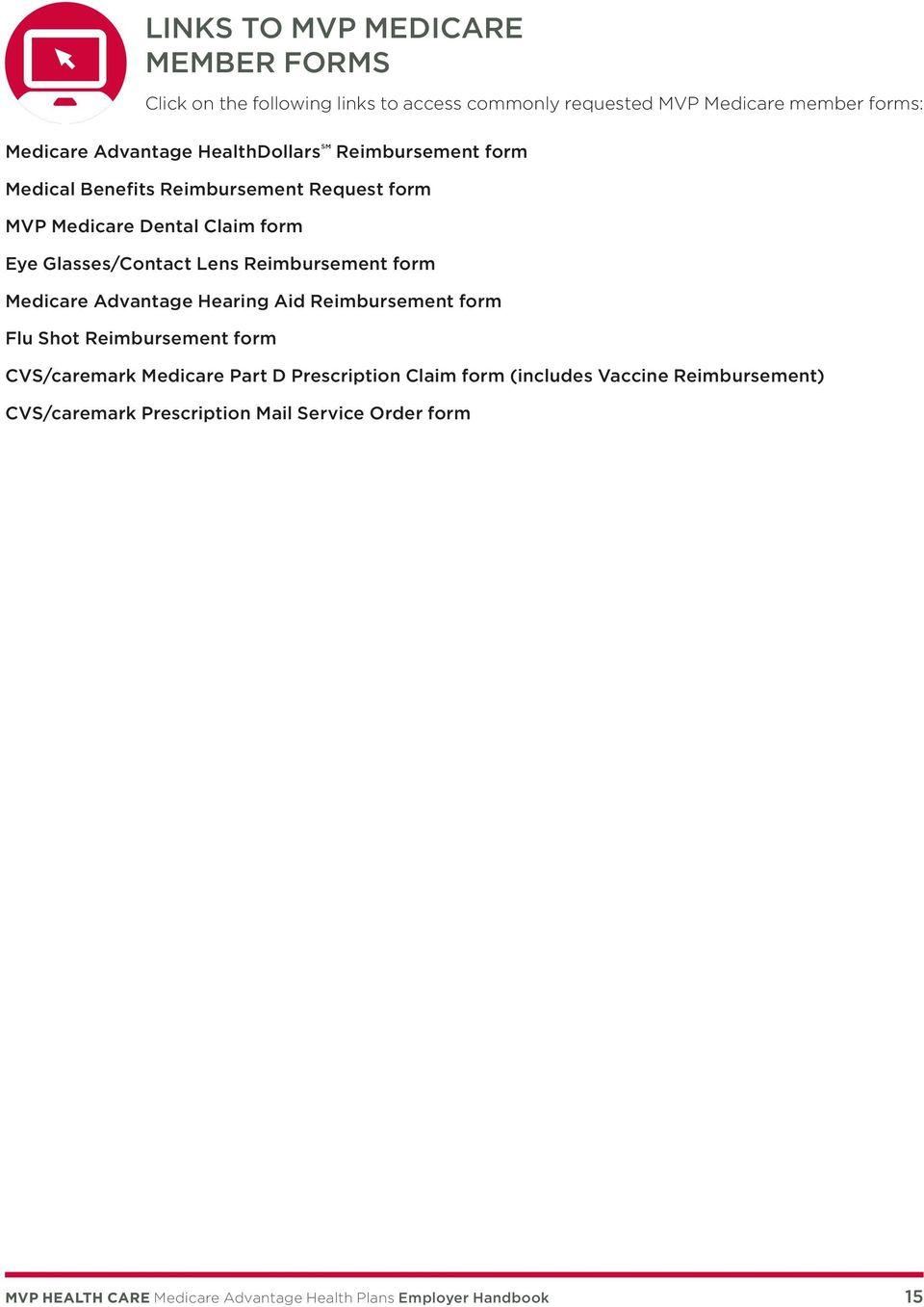 Reimbursement Form Medicare Advantage Hearing Aid Reimbursement Form Flu  Shot Reimbursement Form Cvs/caremark Medicare
