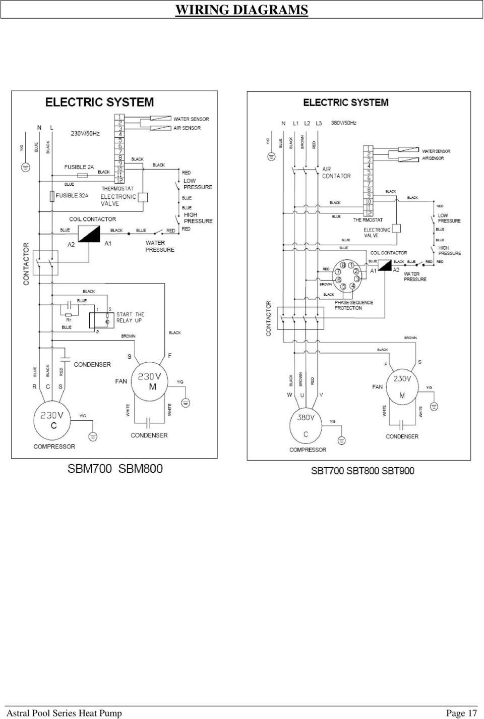 medium resolution of 18 wiring diagrams b600 astral pool series heat pump page 18