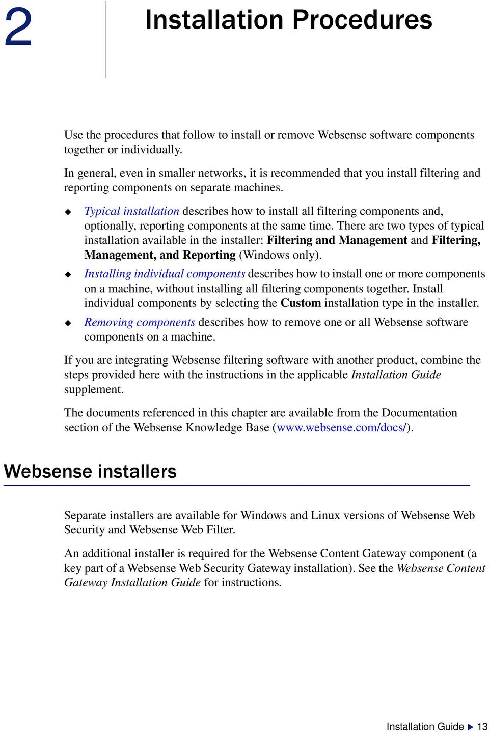 Installation 81 Web Websense Security Guide