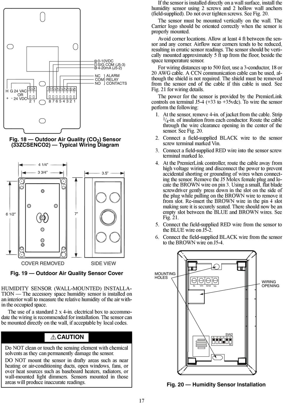 hight resolution of  field supplied do not over tighten screws see fig 20