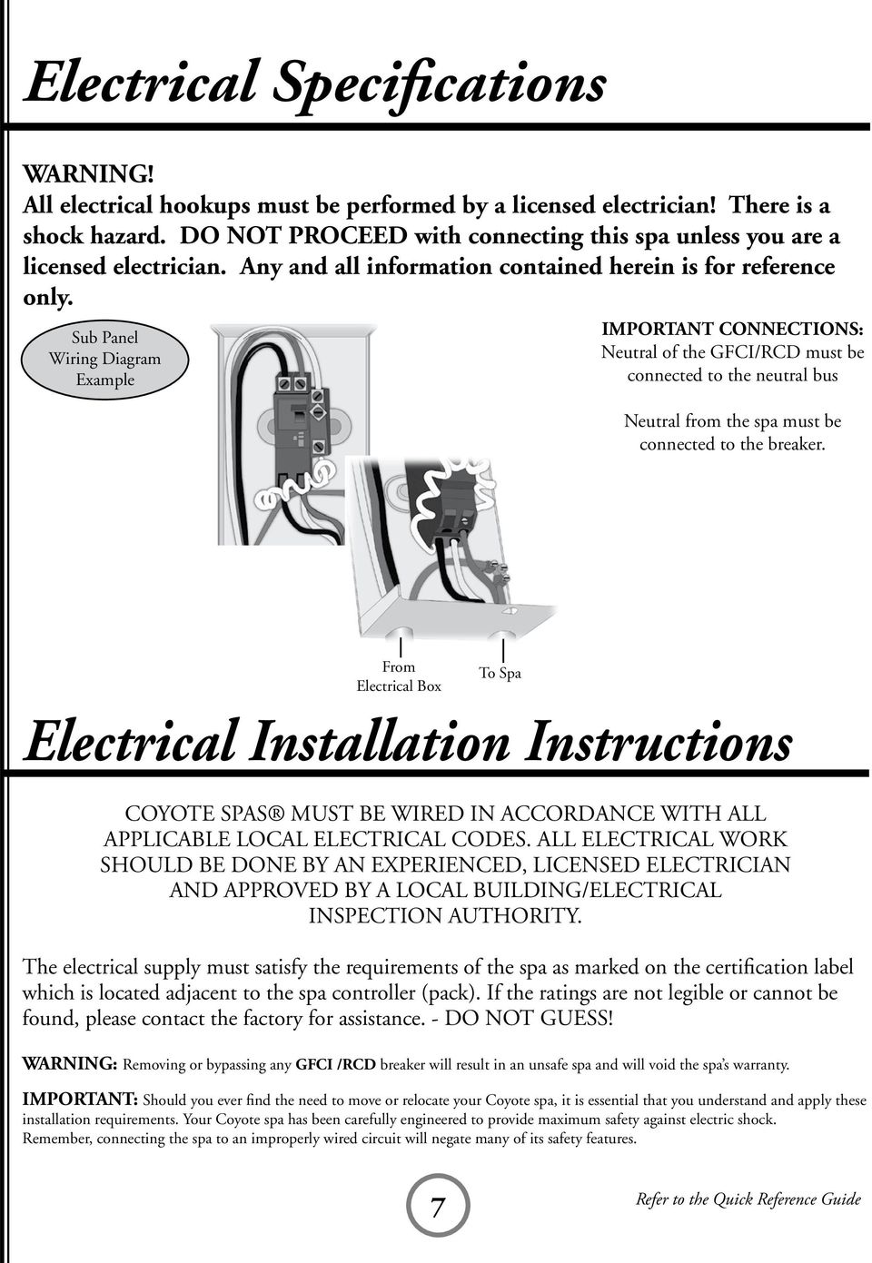 medium resolution of sub panel wiring diagram example important connections neutral of the gfci rcd must be