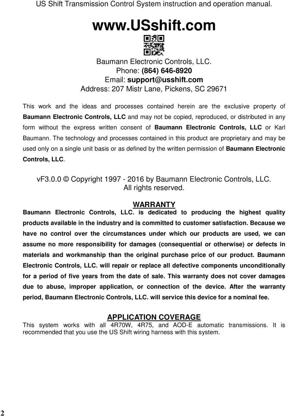 medium resolution of or distributed in any form without the express written consent of baumann electronic controls llc