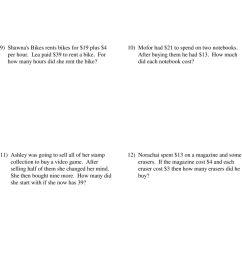 Mathx Net Two Step Equations Word Problems Integers Answer Key -  Tessshebaylo [ 1567 x 960 Pixel ]