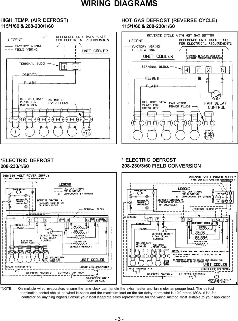 medium resolution of 208230 3 60 field conversion note on multiple wired evaporators ensure the