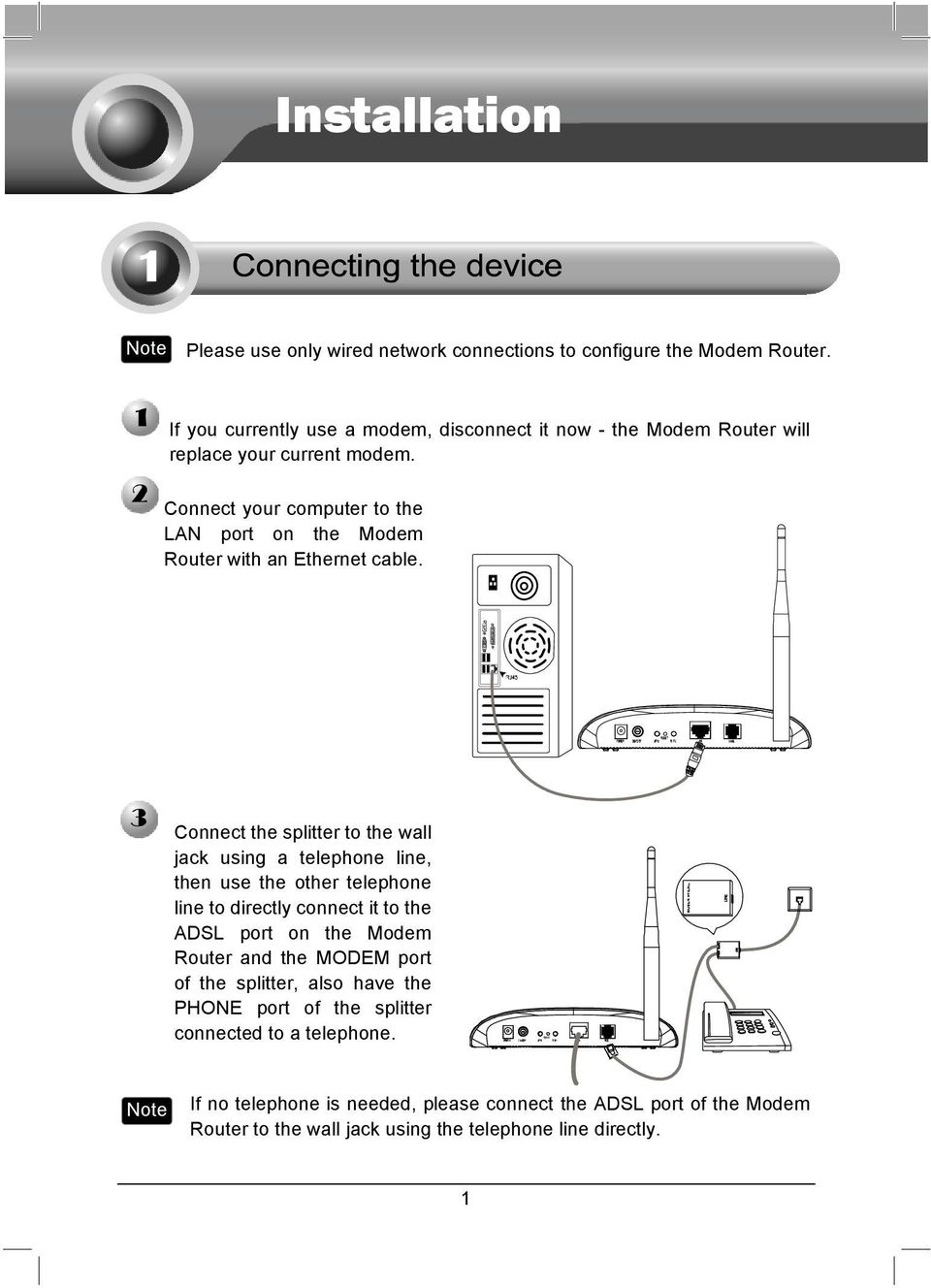 Replace Phone Line With Ethernet : replace, phone, ethernet, Installation., Currently, Modem,, Disconnect, Modem, Router, Replace, Current, Modem., Download