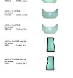 352210a1 rear lower glass cab glass case 580k super k l  [ 960 x 1401 Pixel ]