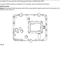 two types of shift bar housings are available for this transmission both are described and [ 960 x 1372 Pixel ]