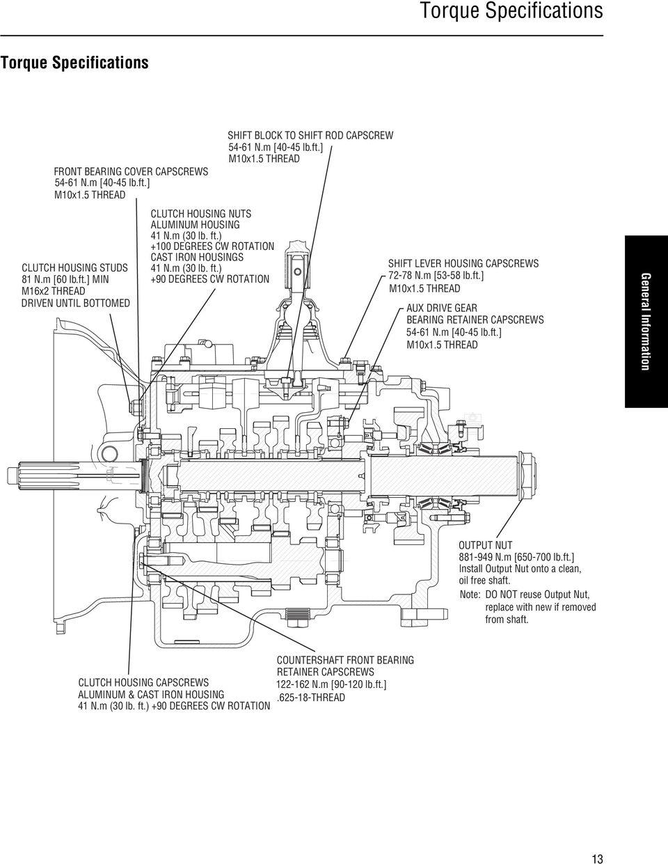 medium resolution of 5 thread shift lever housing capscrews 72 78 n m 53 58 lb