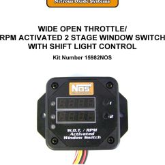 Nitrous Wiring Diagram With Window Switch Ahu Starter Panel Stage 1 Diagrams Msd Digital Best