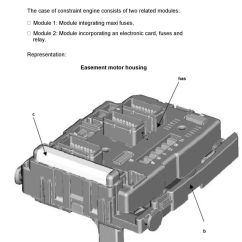 Citroen C5 Wiper Wiring Diagram Big Tex Trailer Brake Document 2 Pdf The Easement Box Is Located Under Engine Hood On Passage Of Left Front