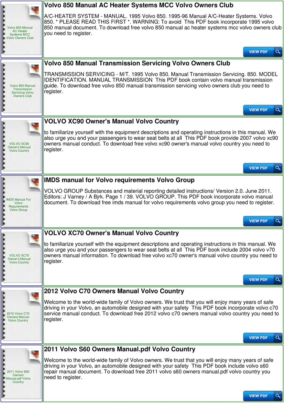 hight resolution of to download free volvo 850 manual ac heater systems mcc volvo owners club you need to