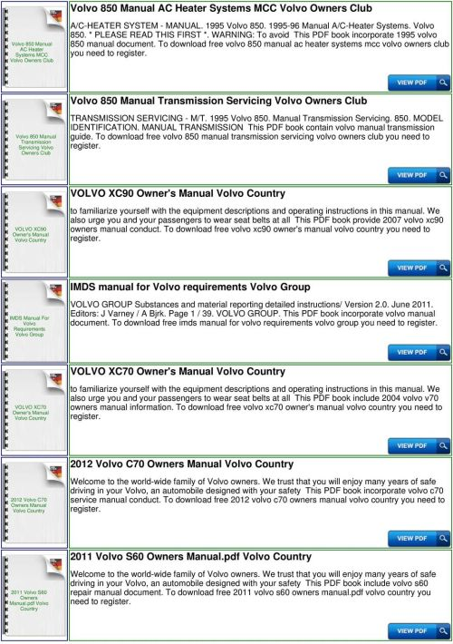 small resolution of to download free volvo 850 manual ac heater systems mcc volvo owners club you need to