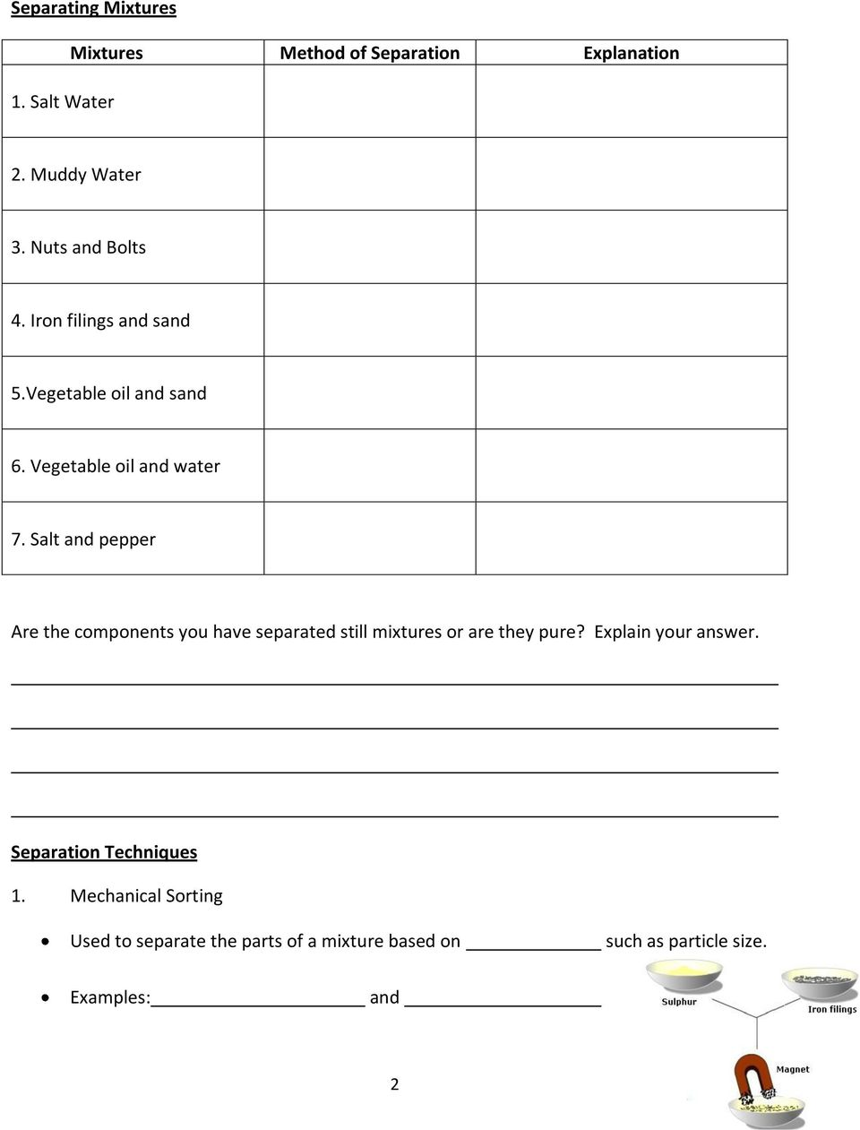 medium resolution of Grade 7 Science Unit 3: Mixtures and Solutions - PDF Free Download