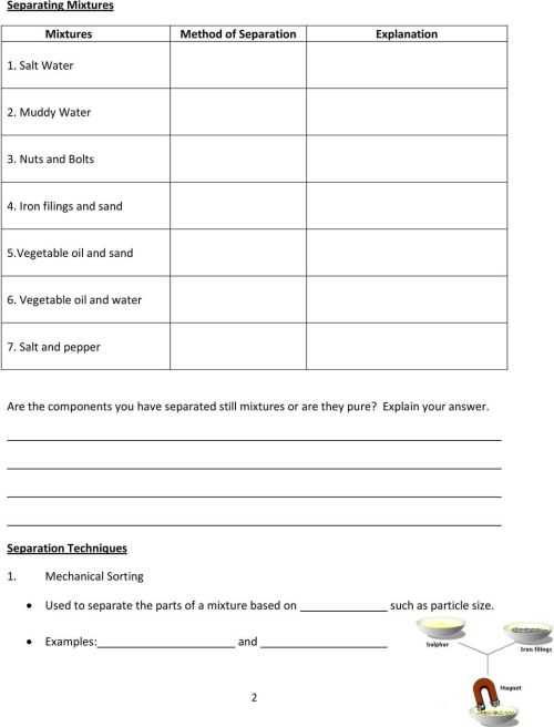 small resolution of Grade 7 Science Unit 3: Mixtures and Solutions - PDF Free Download