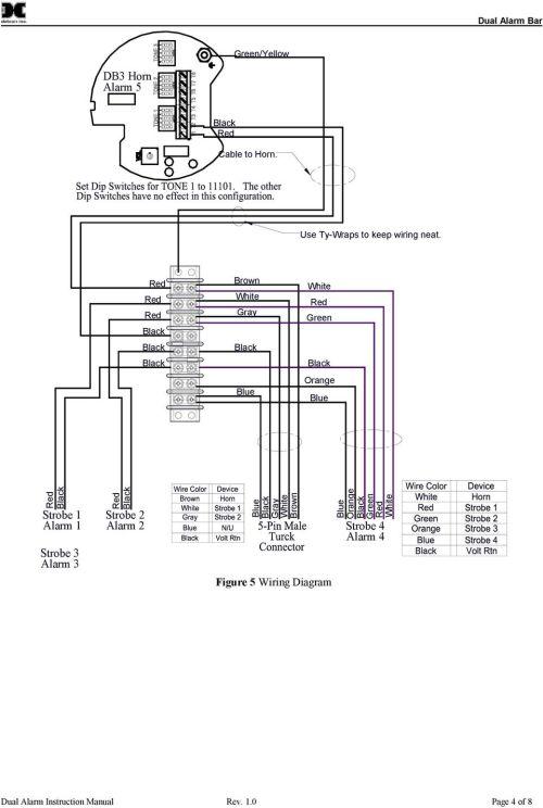 small resolution of 3 strobe 2 alarm 2 blue gray white brown figure 5 wiring diagram blue orange