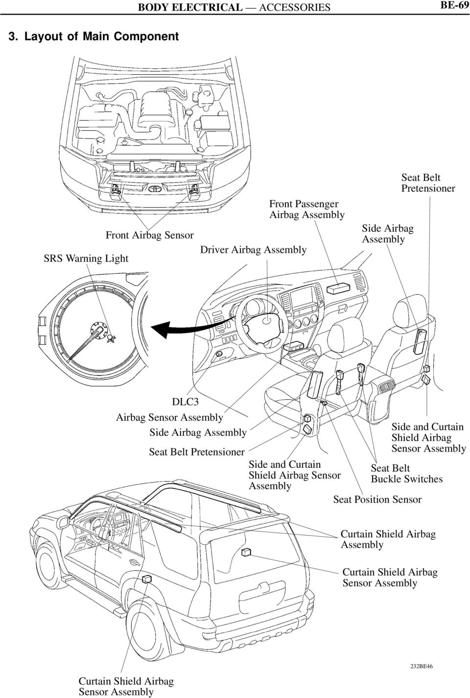 SRS AIRBAG SYSTEM. 1. General. 2. System Diagram BE-67
