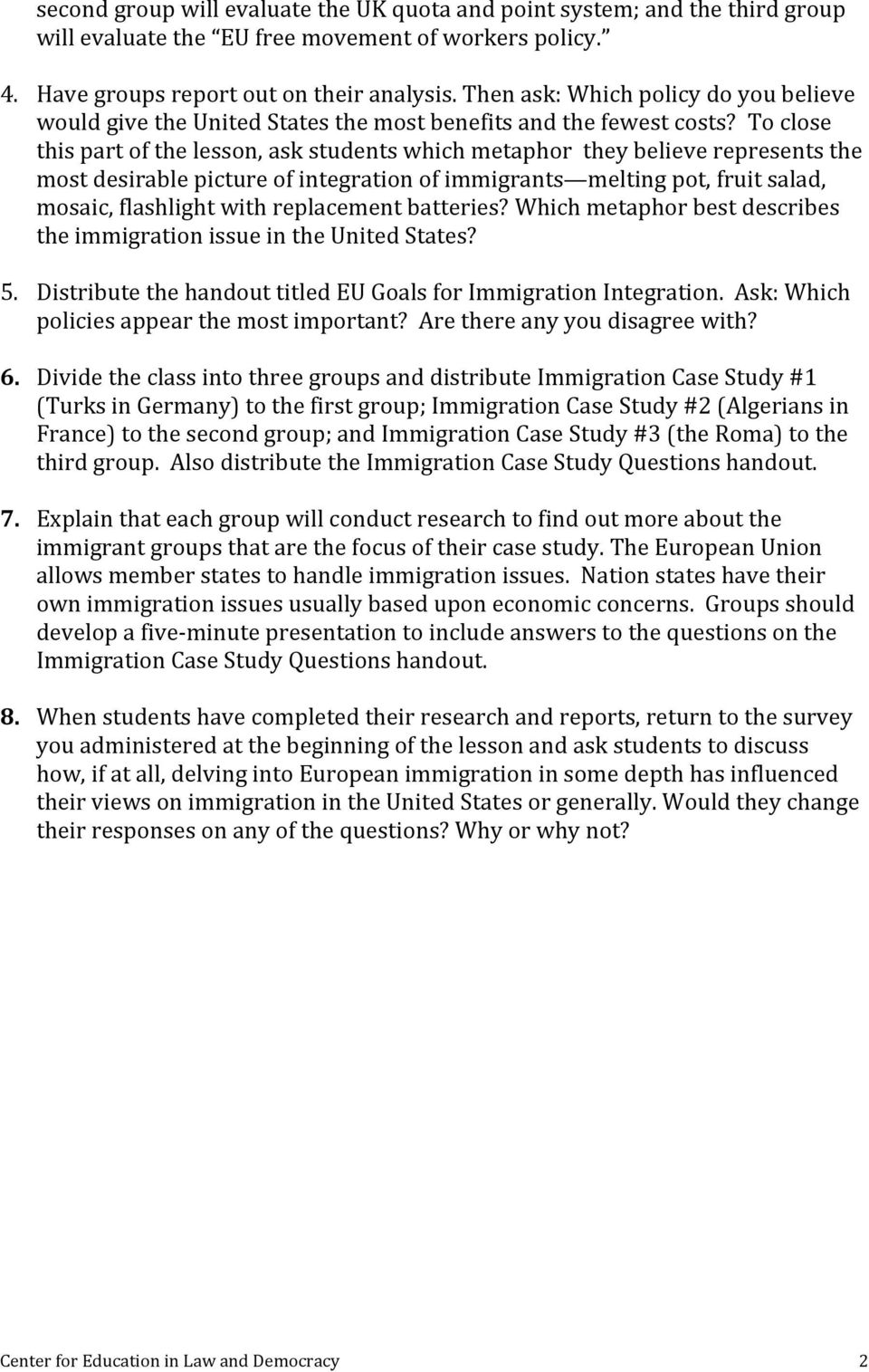 hight resolution of EU Immigration and Integration - PDF Free Download