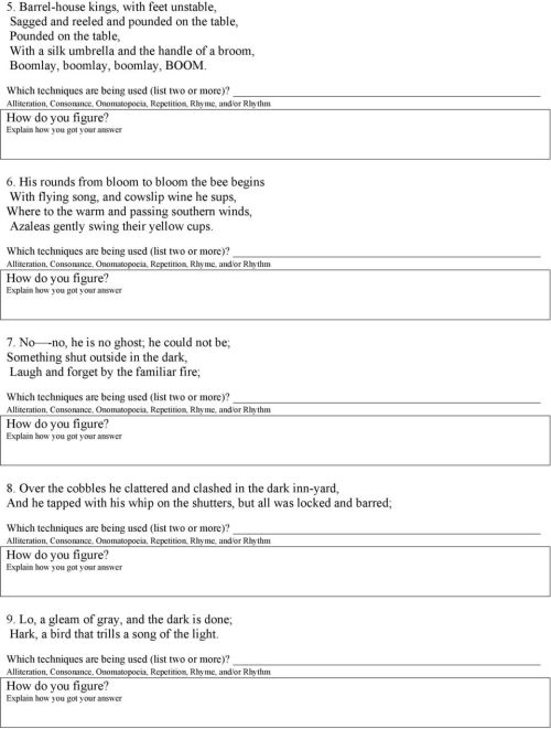 small resolution of Poetic Devices Worksheet 4 - PDF Free Download
