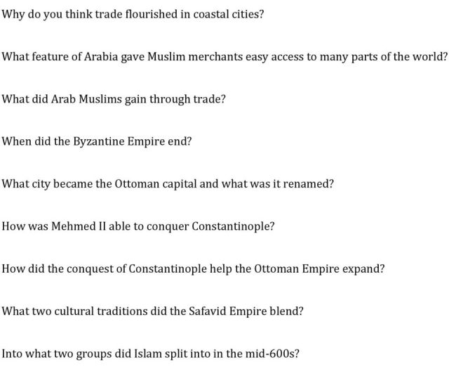 What Feature Of Arabia Gave Muslim Merchants Easy Access To Many Parts Of The World