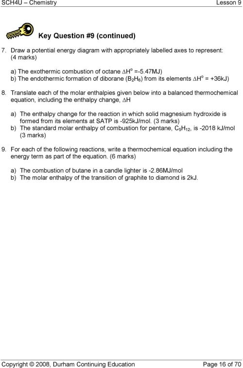 small resolution of translate each of the molar enthalpies given below into a balanced thermochemical equation including the