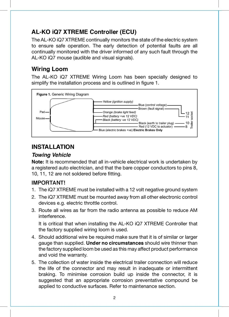 hight resolution of wiring loom the al ko iq7 xtreme wiring loom has been specially designed to simplify